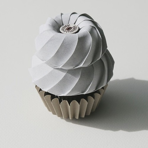 Origami Paper Cupcake by Fiber Lab - Classic Literature Flavor