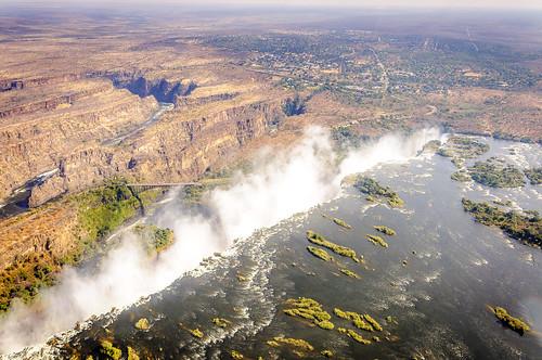 africa victoria falls helicopter zimbabwe zambia zambesi