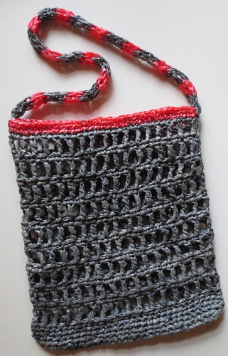 Grey and Pink Plarn Recycled Bag