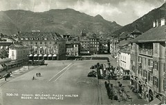 bolzano - postcard - piazza walter - 1952