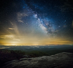 Starry night from Rough Ridge...