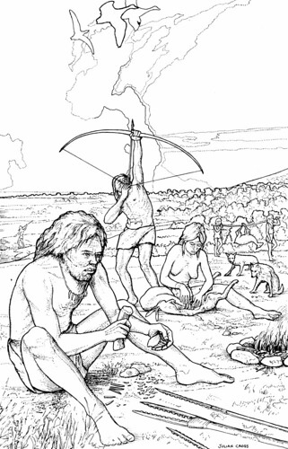 Mesolithic camp site