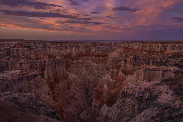 Coal Mine Canyon at Sunset