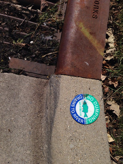 No dumping; drains to river