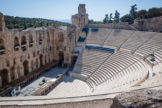 Изображение Herodes Theatre вблизи Афины. 2016 acropolis athens greece herodesatticus lightroom odeon theatre athina attica