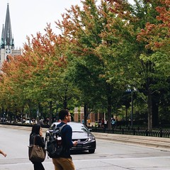 Signs of fall arriving on campus.  by @mc.nicol