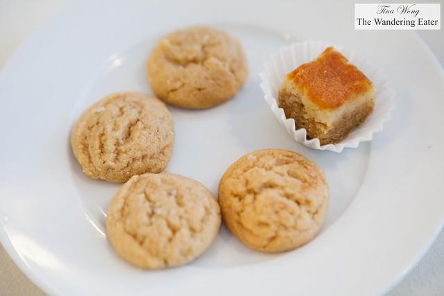 Peanut butter cookies and peanut butter tart