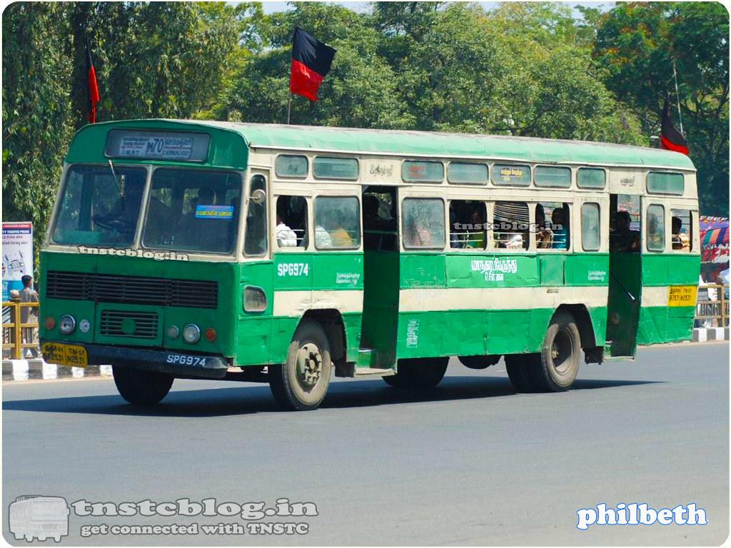 TN-01N-2531 SPG 974 of Saidapet Depot Route M70 C.M.B.T. - Chemmenchery via Vadapalani, Guindy, Velachery, Sholinganallur.