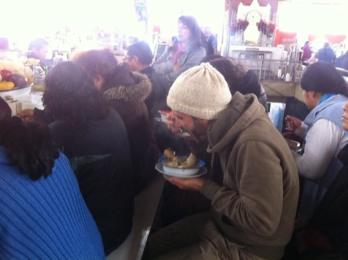 Cuzco was colder than we expected, but the most popular soup place in the market helped us out