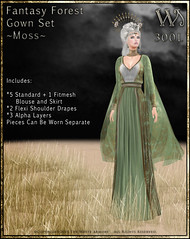 Fantasy Forest Gown Set-Moss_Promo Art