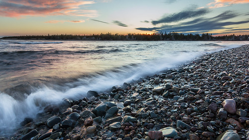 sunset canada water clouds rocks waves novascotia ns lawrencetown eastlawrencetown