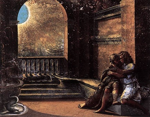 Isaac and Rebecca Spied upon by Abimelech Raphael
