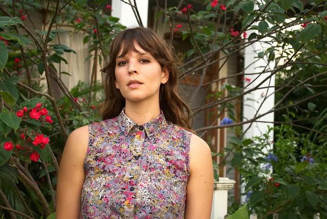 Mood Fabrics Abstract Cotton | Grainline Alder Dress