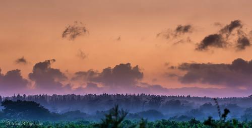 morning blue orange mist color green clouds sunrise landscape southafrica 50mm early nikon purple hoedspruit limpopo d7100