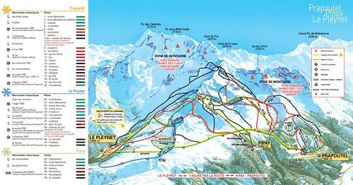 Les 7 Laux - mapa sjezdovek