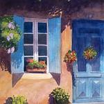 Doorway, Monpazier, France