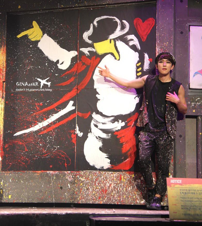 不會韓文也看得懂的公演》韓國首爾場結合簡單舞蹈HERO塗鴉秀 액션드로잉 히어로(서울) @Gina Lin