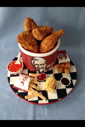 KFC Cake by Laura Stockton of Occasionally Yours