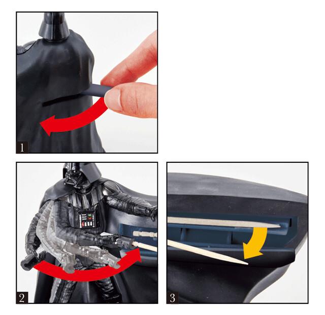 【官圖&宣傳影片公開!】剔個牙也霸氣十足!BANDAI 推出超威的黑武士牙籤光劍收納盒