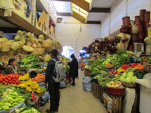 Sucre: el mercado central et ses légumes