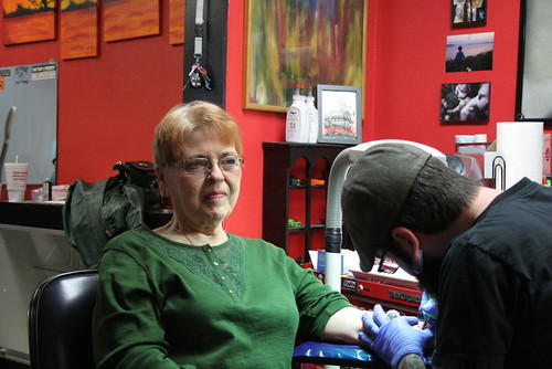 In The Tattoo Chair