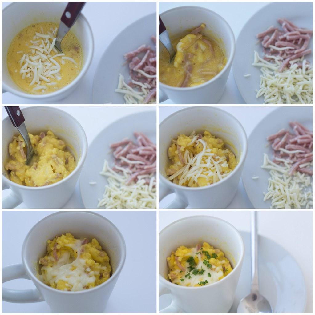Opskrift på hjemmelavet røræg i kop i mikroovnen