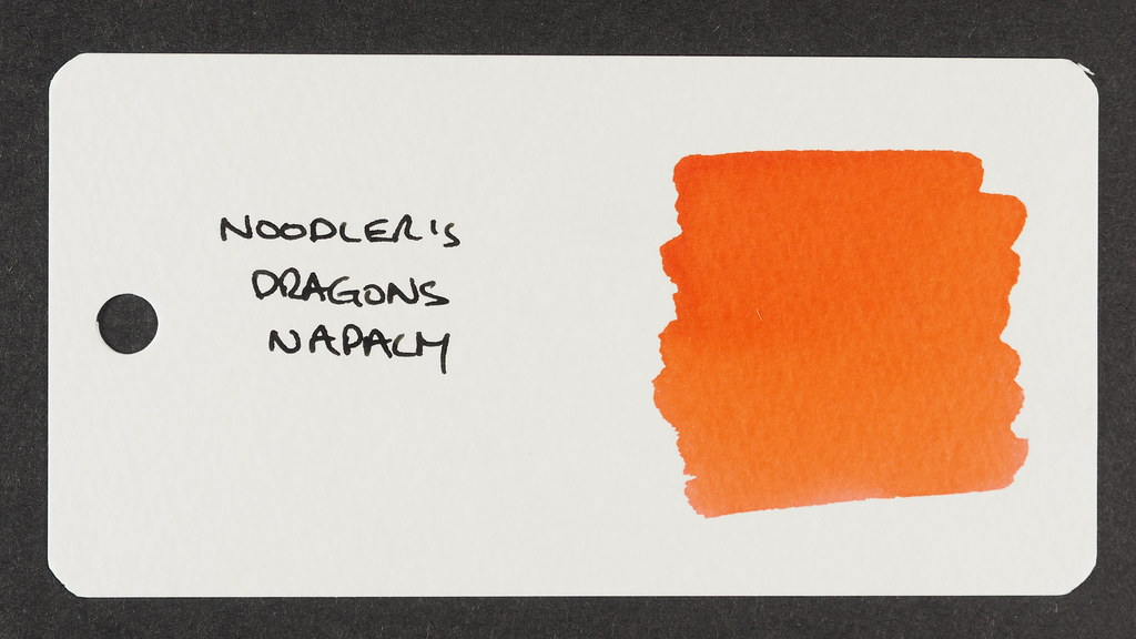 Noodler's Dragons Napalm - Word Card