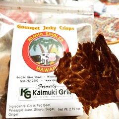 these jerky crisps are super addicting! thanks aunty! #alohaedibleshawaii #jerkycrisps #hawaii
