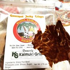 these jerky crisps are super addicting! thanks aunty! #alohaedibleshawaii #jerkycrisps #hawaii