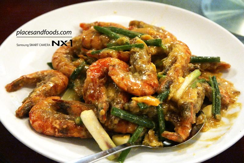 CWZJ Cuisine (The Home of Tea Kings) salted duck egg prawns