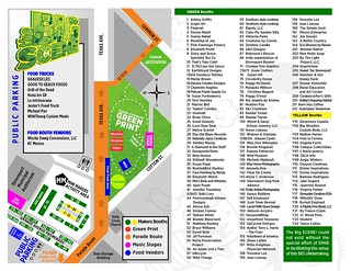 Texas Ave Makers Fair map, Ap 11, 2015