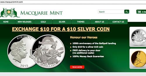 Macquarie Mint Anzac coin