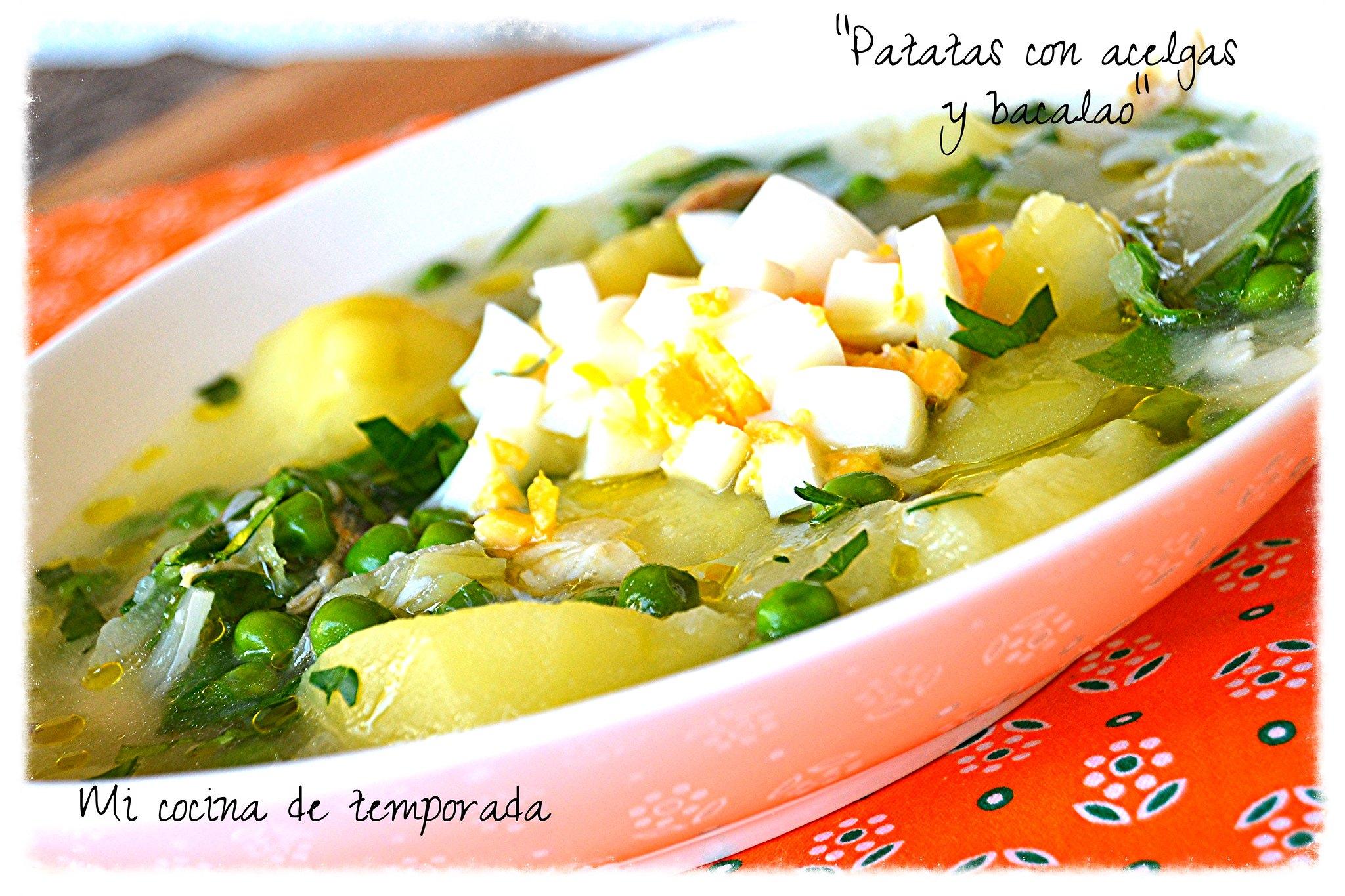 Patatas con acelgas 016