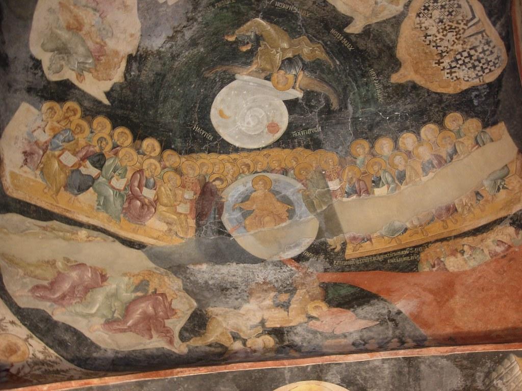 Cristo y los apóstoles en San Salvador de Cora o Kariye Camii