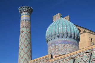 Image of Registan square near Samarqand. city travel urban color buildings colorful asia cities uzbekistan centralasia samarkand worldtravel traditionalarchitecture skyarchitecture exoticplaces differentplaces travelworld exotictravel cultureworld cultureasia unusualdestinations exoticasia