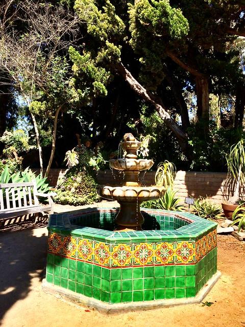 Fountain in the Mexican Garden.