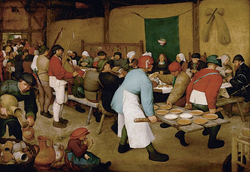 """Peasant Wedding"" by Pieter Bruegel the Elder"