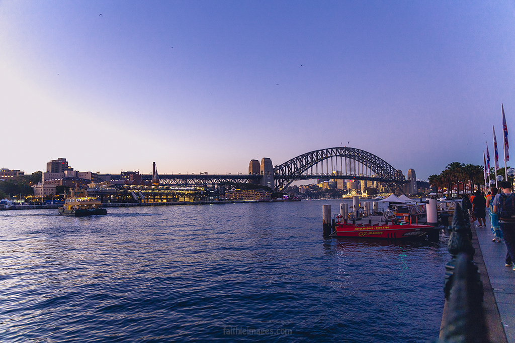 Blue hour in Circular Quay