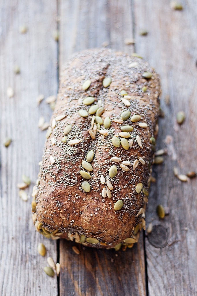 seeded wheat bread