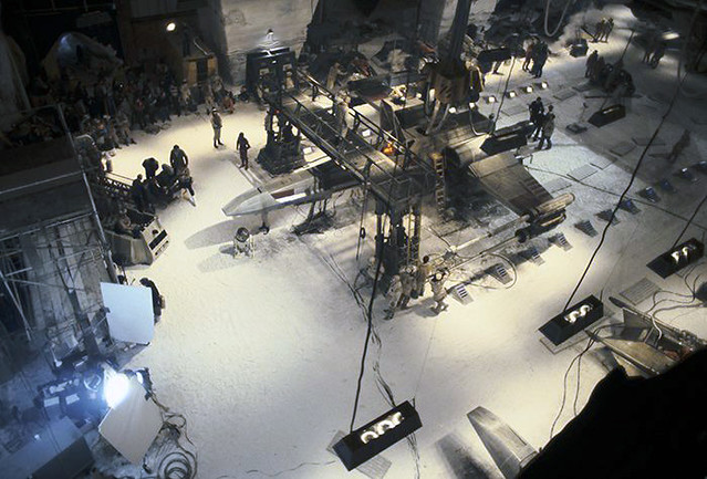 X-Wing in the Hoth hangar set