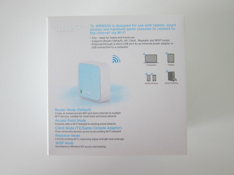 TP-Link 300Mbps Wireless N Nano Router - Box Back