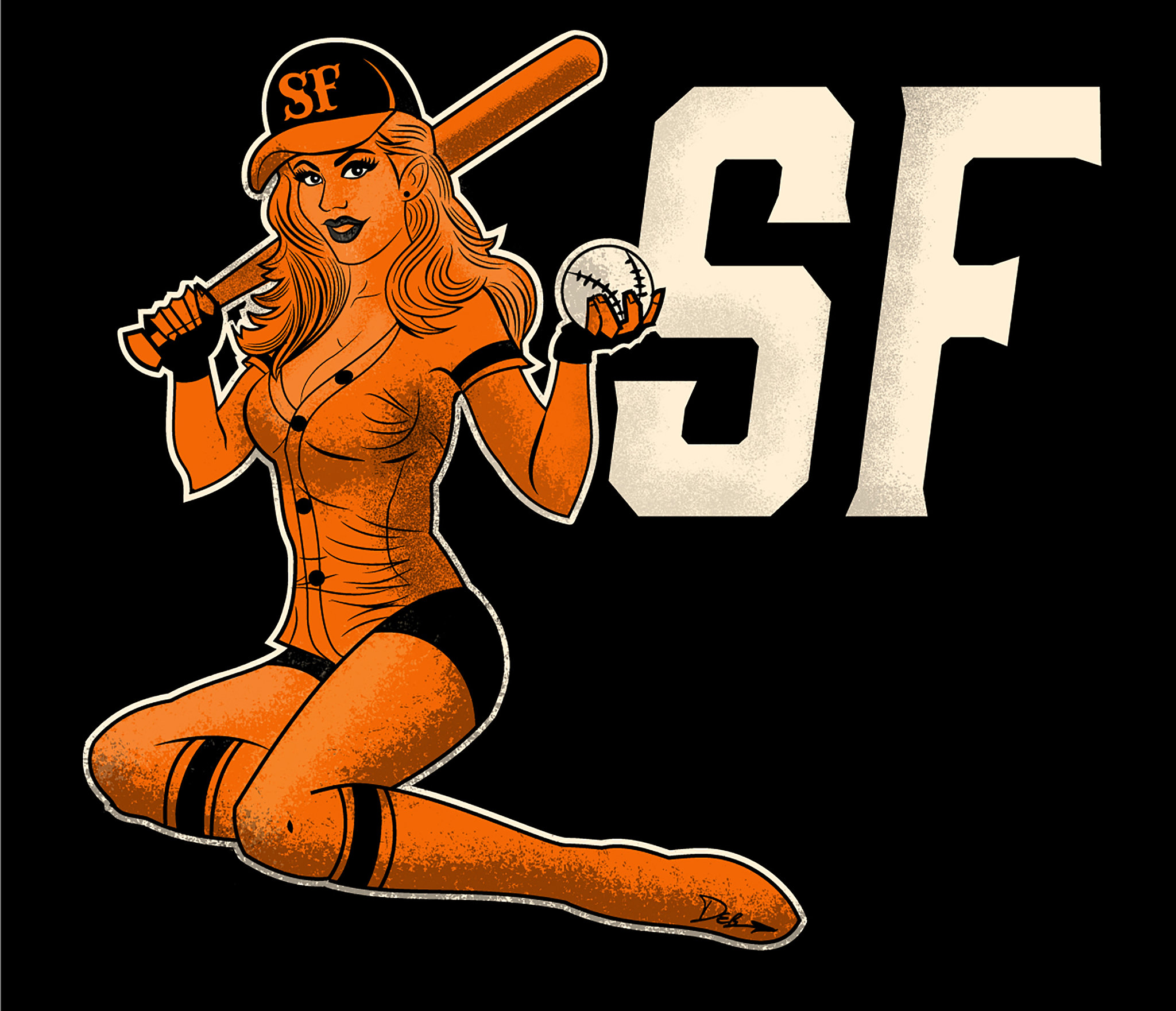 SF Giants Pin-Up Girl 1