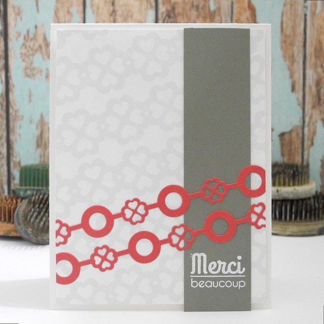 Merci beaucoup by @Jennifer Ingle #casualfridaysstamps #cards #diy #papercrafts #bazzillbasics