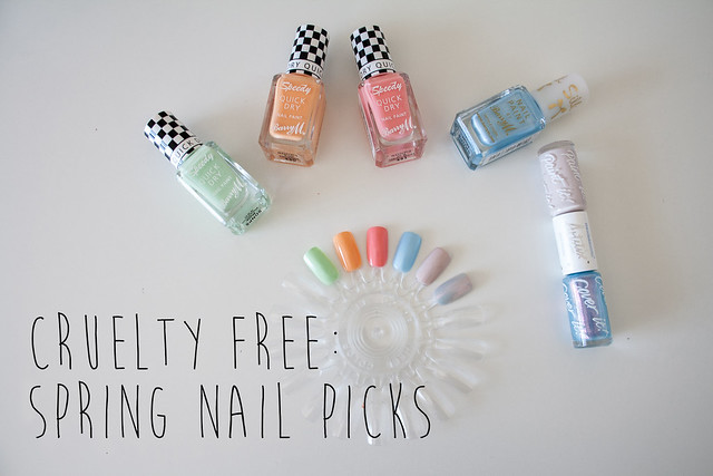 Cruelty free spring nail picks, featuring Barry M and Models Own