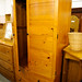 Tall solid wood wardrobe