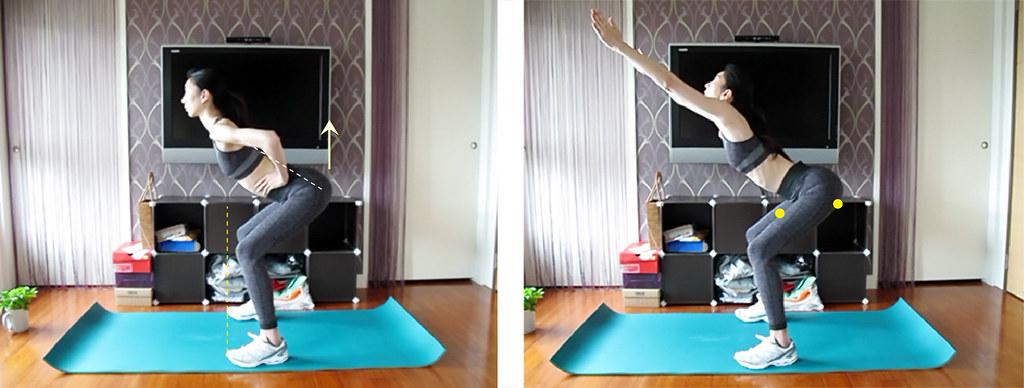 深蹲 健身 運動 臀部 曲線