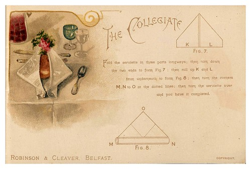 012-Serviettes and how to fold them-1890-Robinson and Cleaver- The Metropolitan Museum of Art