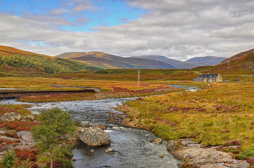 summer river landscape scotland country