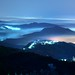 布魯飄零 ~五指山 Wuzhi Mountain,  Night view with  Advection fog  @ Taipei City~ by PS兔~兔兔兔~