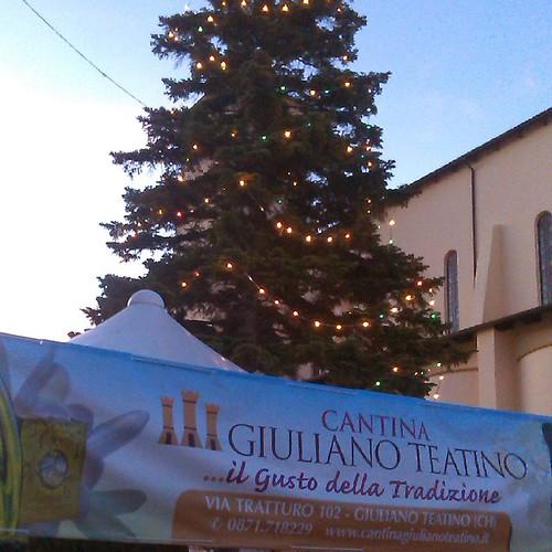 #italy #italia #giuliano #teatino #italian #village #near #pescara #adriatic #coast #church #proximity #holyday #christmastree #meeting
